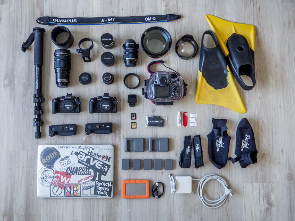 Mirrorless Surf Photographers Packlist