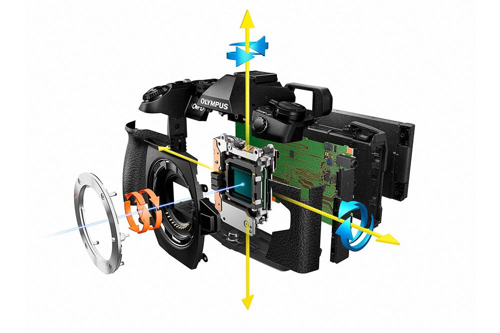 Olympus OM-D E-M1 Mark II 5 axis sensor stabilisation