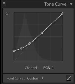 Tonal Curve for Underwater shots 2