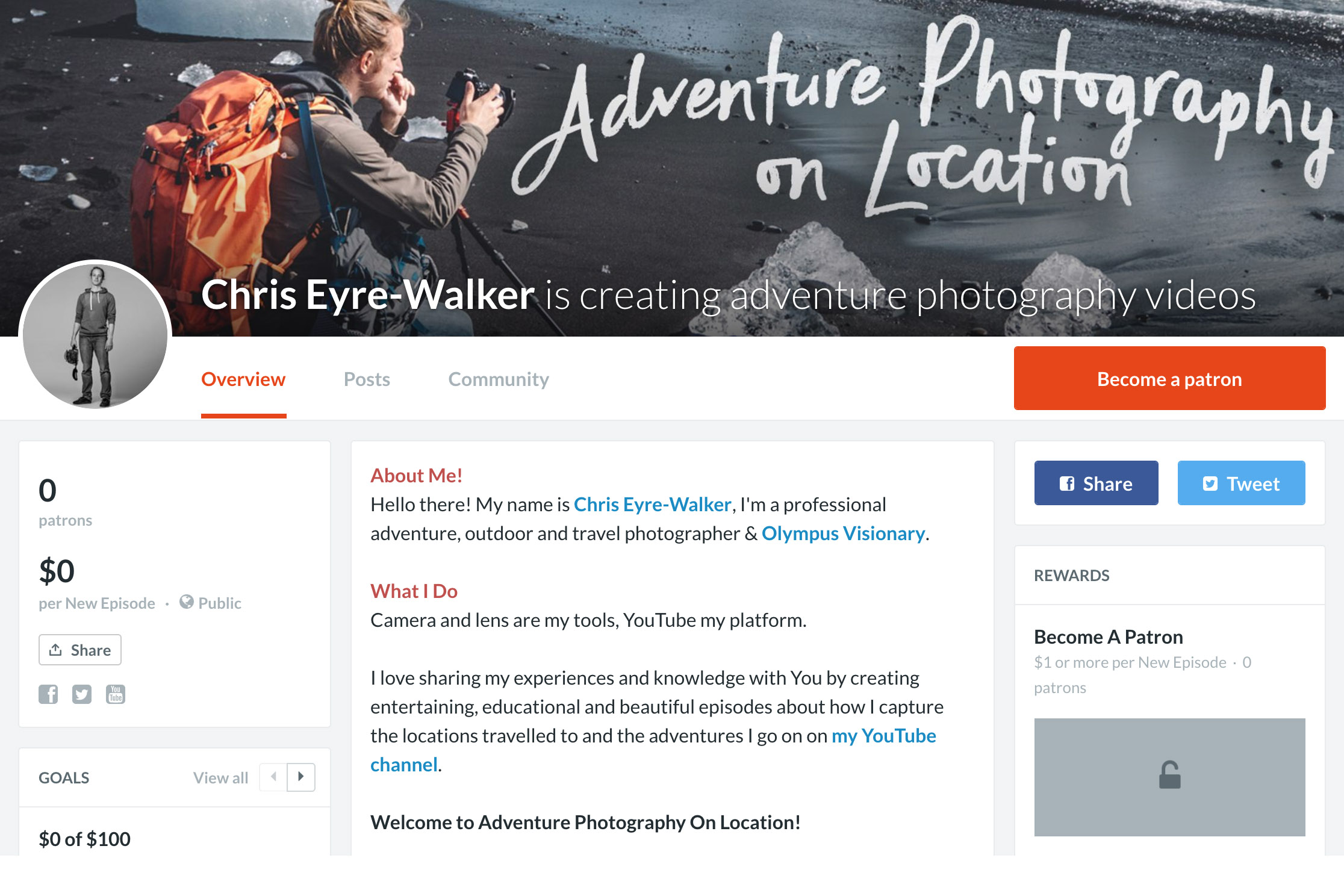 Chris Eyre-Walker Photography Patreon Page