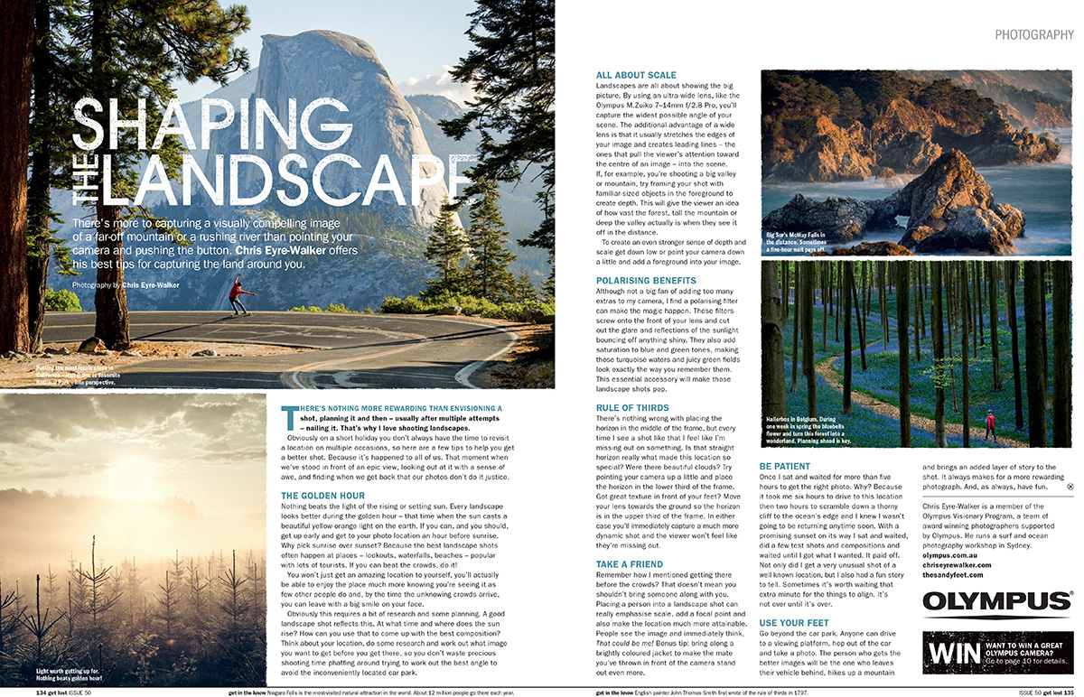 GetLost issue 50 Photography Tips by Chris Eyre-Walker