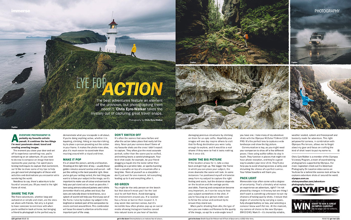 GetLost issue 52 Photography Tips by Chris Eyre-Walker