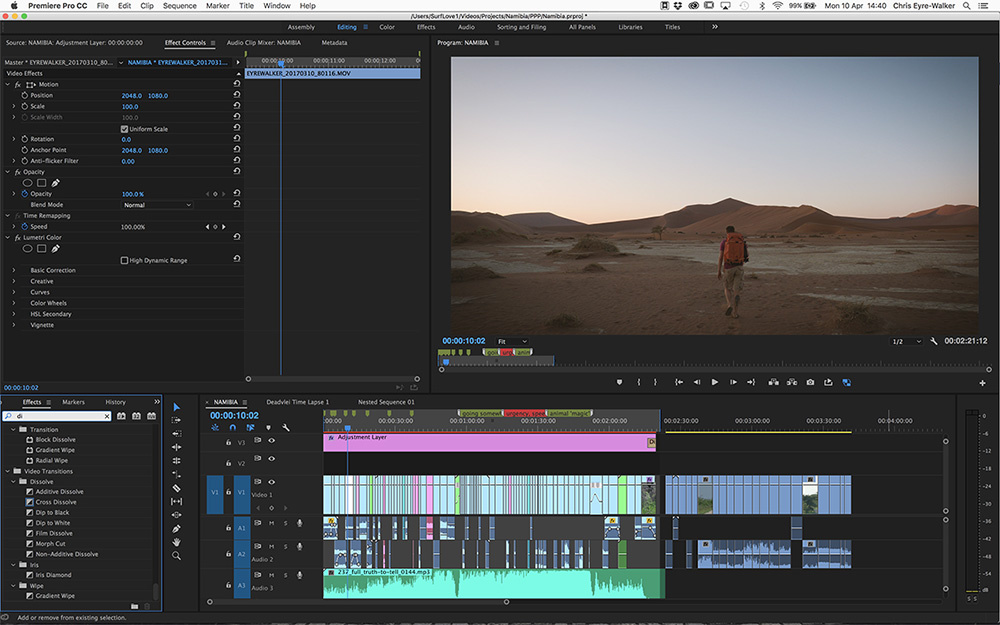 Namibia Short Film Project in Adobe Premiere Pro