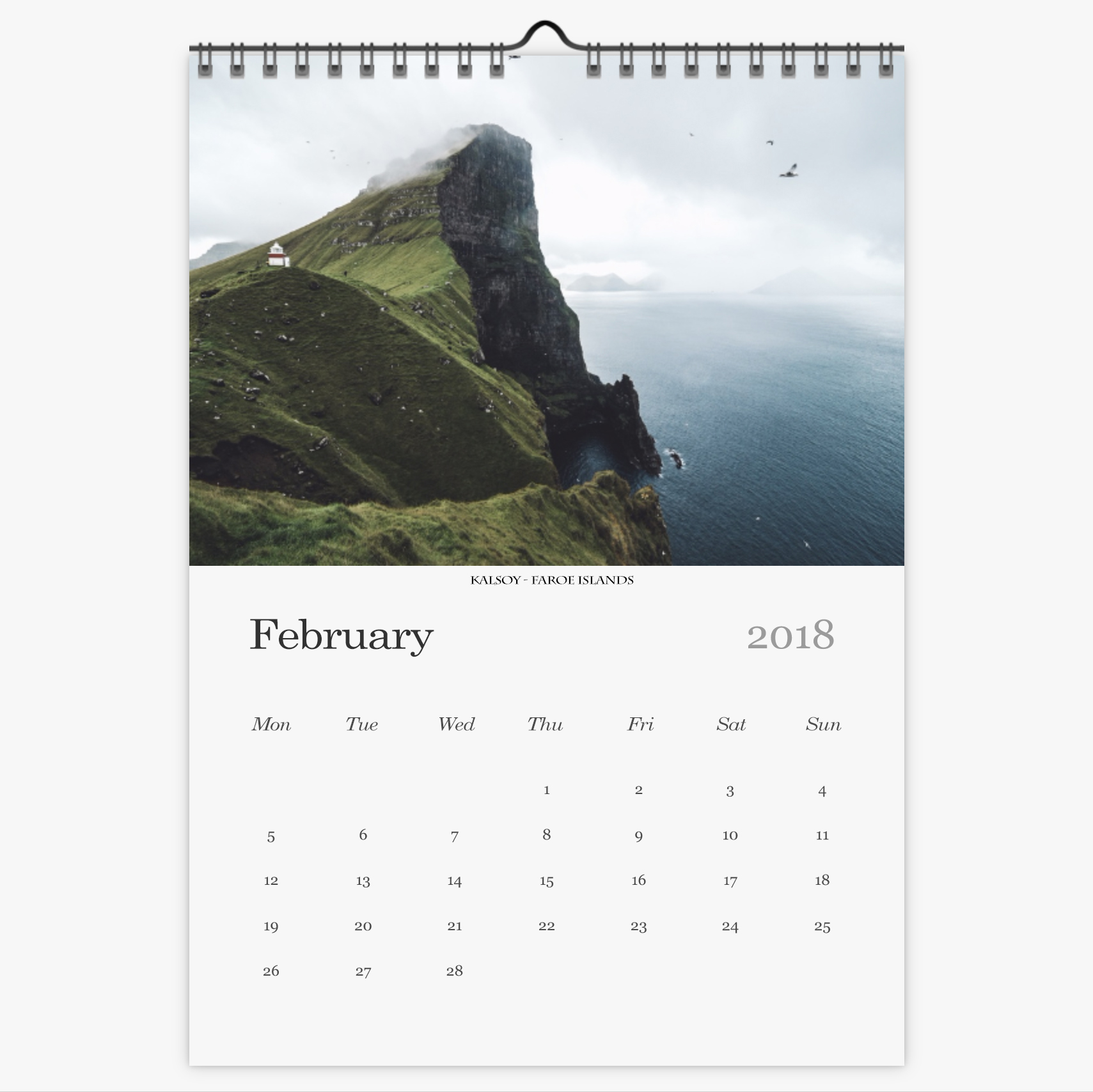 Chris Eyre-Walker Photography 2018 Calendar February