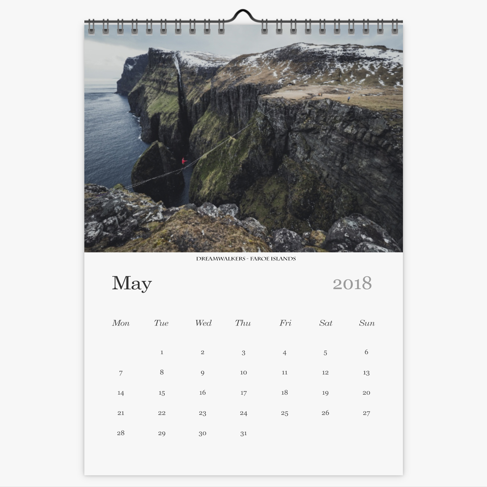 Chris Eyre-Walker Photography 2018 Calendar May