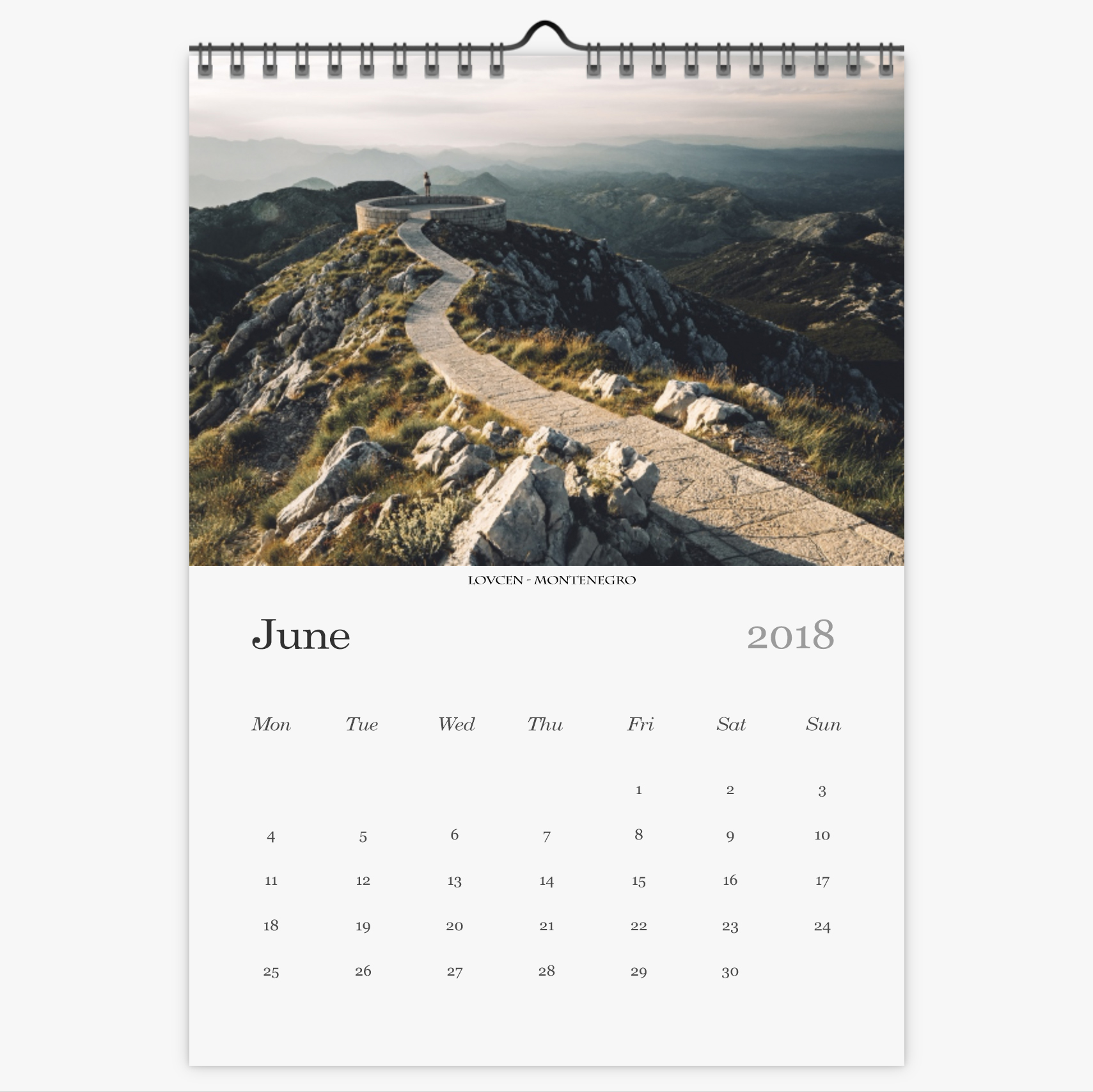Chris Eyre-Walker Photography 2018 Calendar June