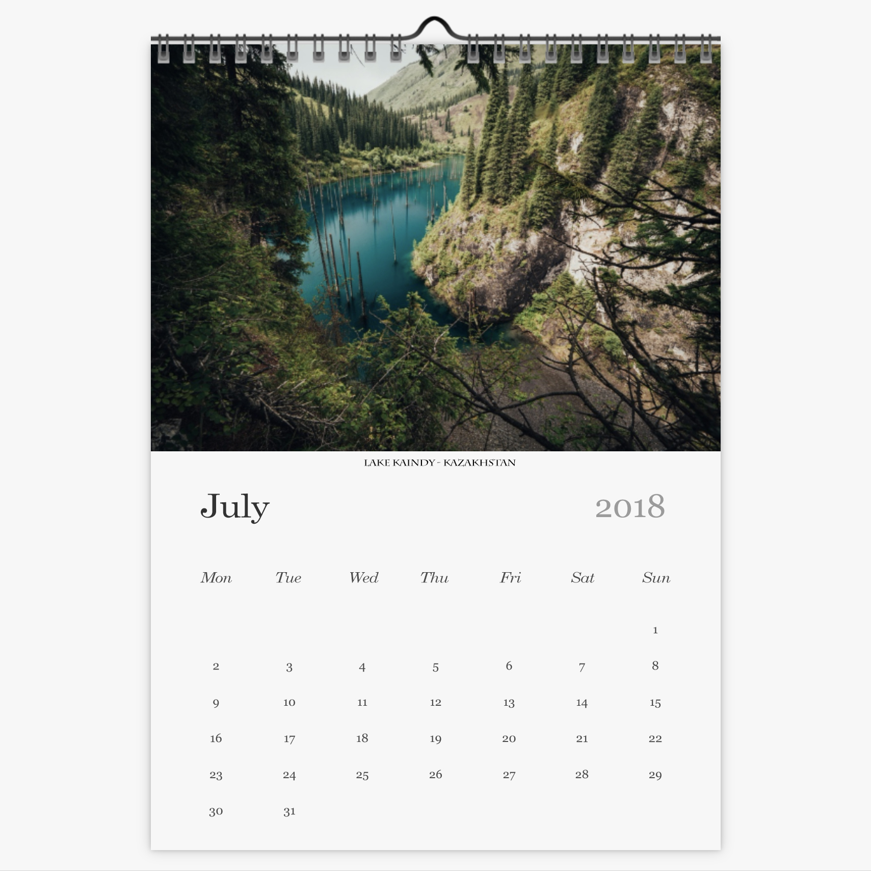 Chris Eyre-Walker Photography 2018 Calendar July
