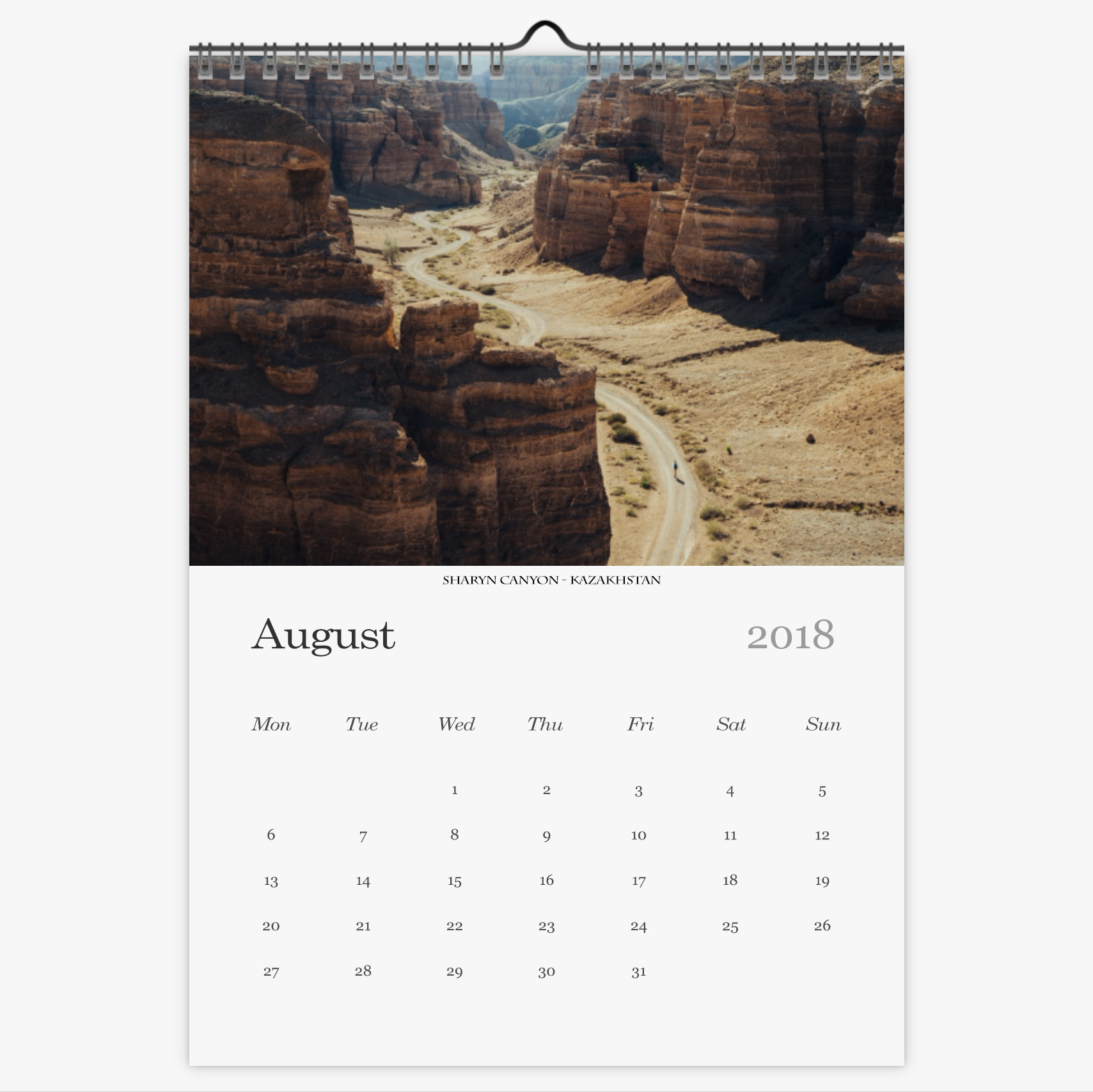 Chris Eyre-Walker Photography 2018 Calendar August
