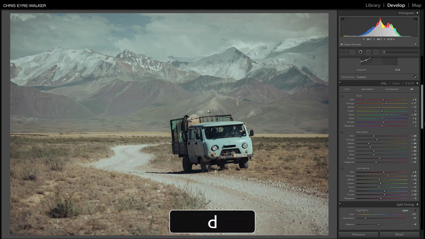 10 Lightroom Hacks You Probably Didn't Know - D to switch to Develop Module
