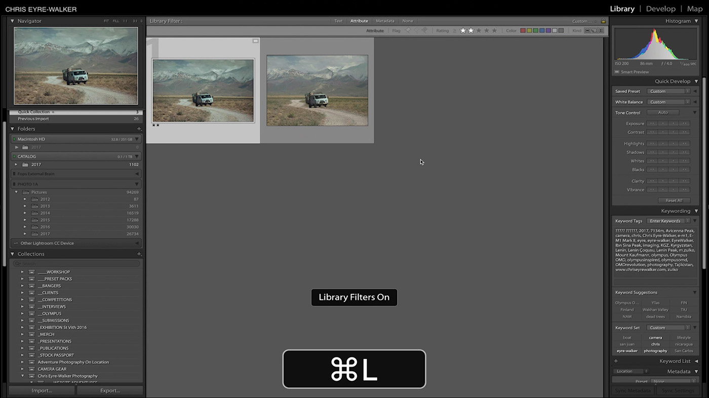 10 Lightroom Hacks You Probably Didn't Know - CMD + L
