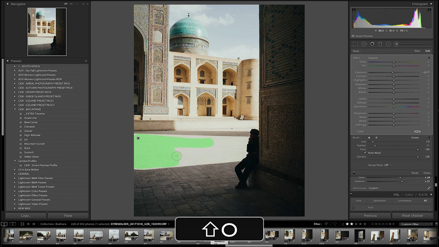 10 Lightroom Hacks You Probably Didn't Know - Press SHIFT + O to toggle between different Masking Colors